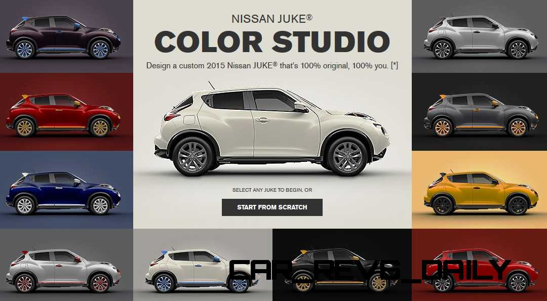 2015 Nissan Juke Color Studio Offers 4000 Unique Trims Via
