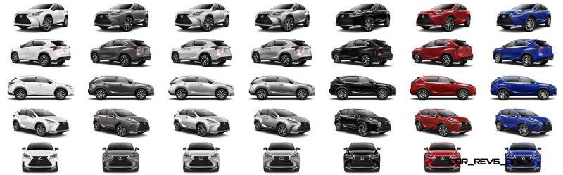 2015 Lexus NX200t F Sport COLORS 1-tile