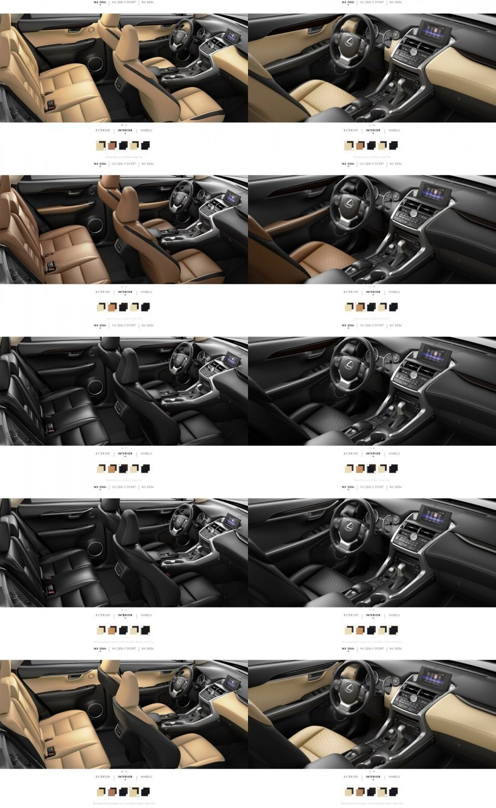 Awesome 2015 Lexus NX200t Interior Colors 10 Tile Ideas