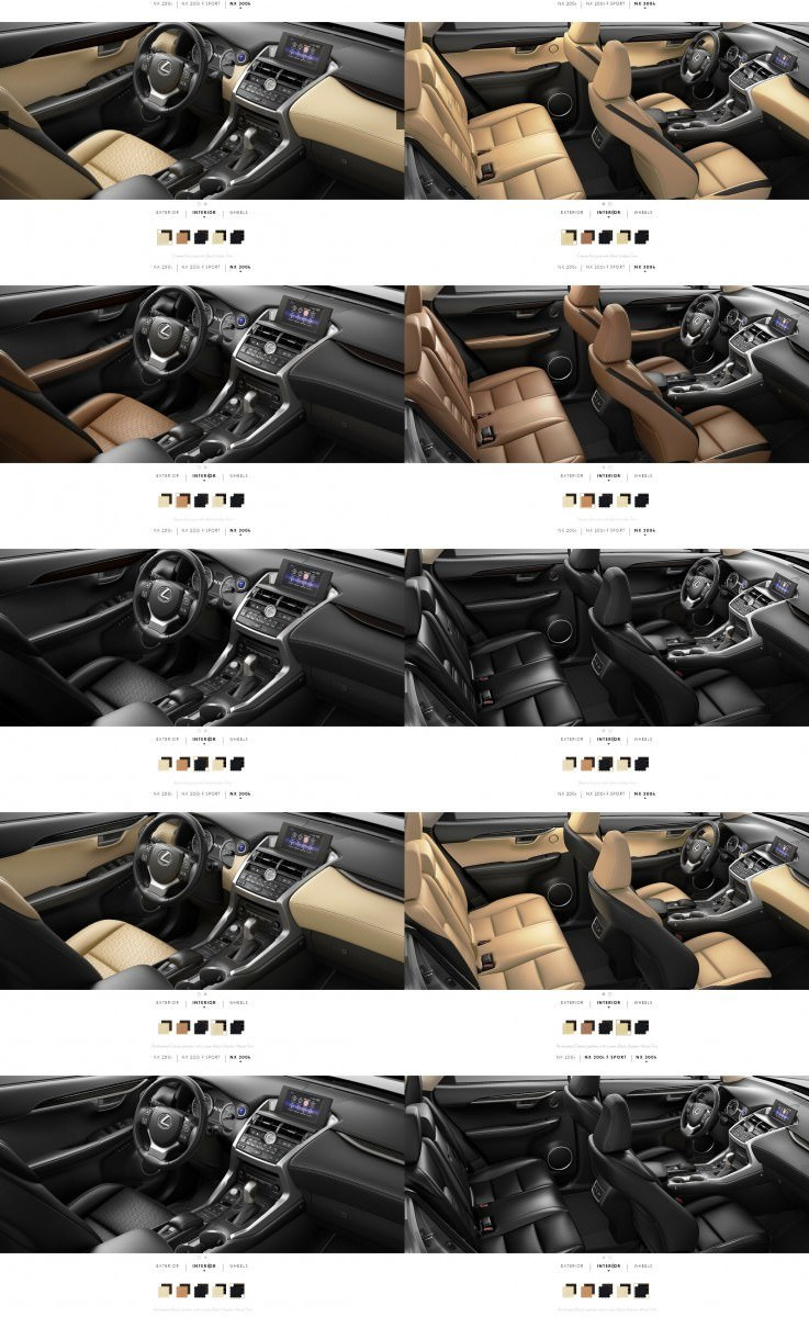 2015 Lexus NX300h Interior Colors 1-tile