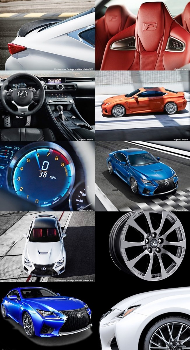 2015 Lexus RC F Colors and Wheels Visualizer 13