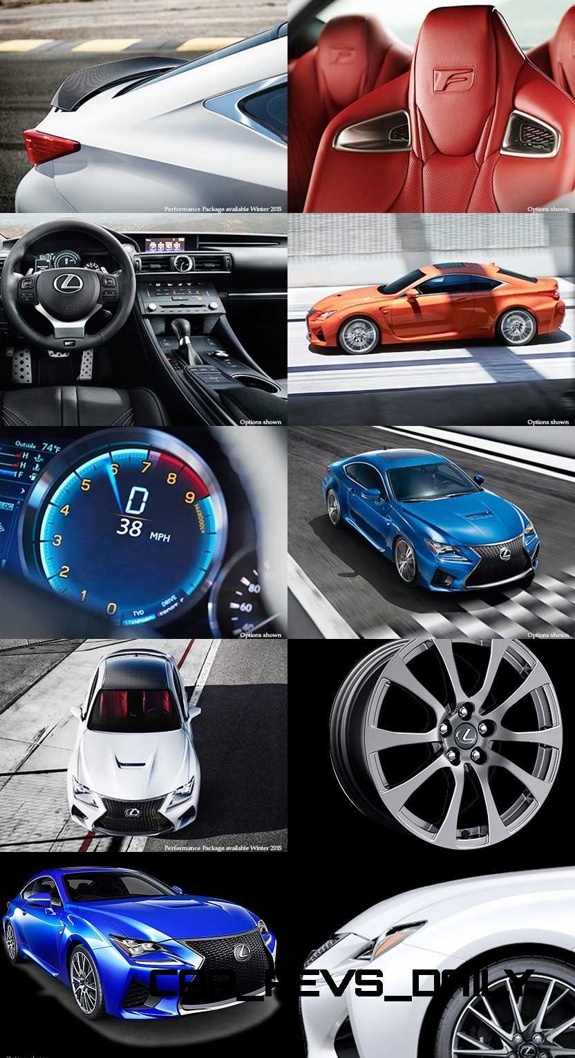 2015 Lexus RC F Colors