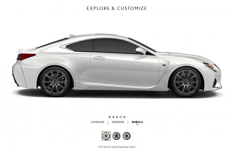 2015 Lexus RC F Colors and Wheels Visualizer 2