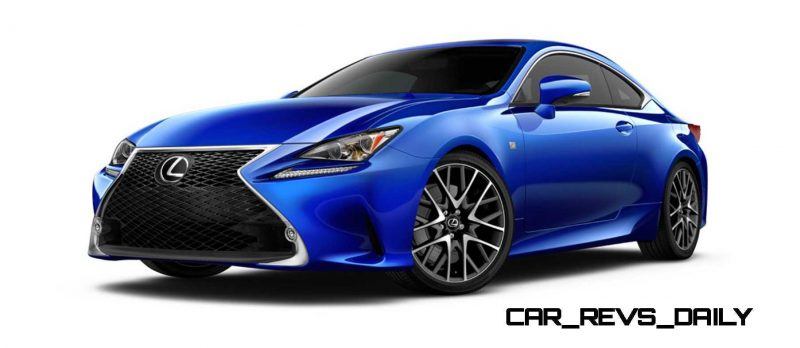 2015 Lexus RC350 Colors Visualizer + F Sport vs Standard 17