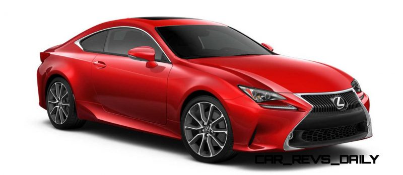 2015 Lexus RC350 Colors Visualizer + F Sport vs Standard 43