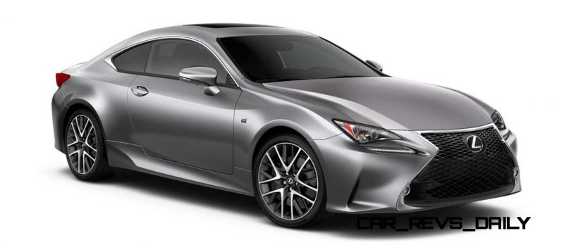2015 Lexus RC350 Colors Visualizer + F Sport vs Standard 45