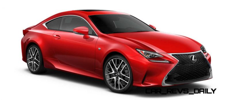 2015 Lexus RC350 Colors Visualizer + F Sport vs Standard 49