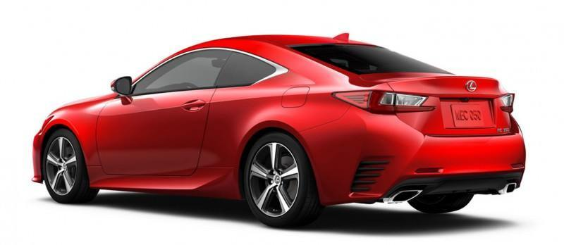 2015 Lexus RC350 Colors Visualizer + F Sport vs Standard 78