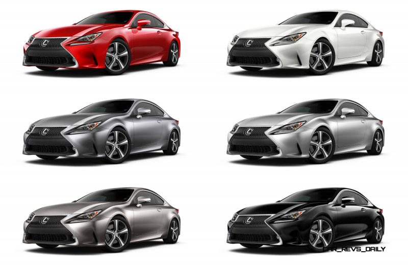 2015 Lexus RC350 Colors Visualizer + F Sport vs Standard 8-tile