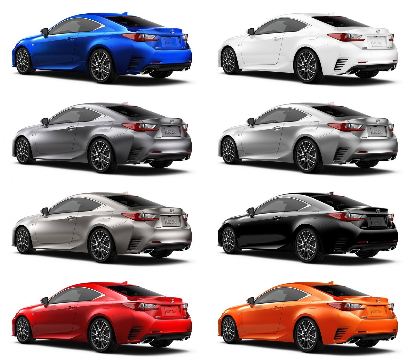 2015 Lexus RC350 Colors Visualizer + F Sport Vs Standard