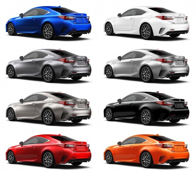 2015 Lexus RC350 Colors Visualizer + F Sport vs Standard 87-tile