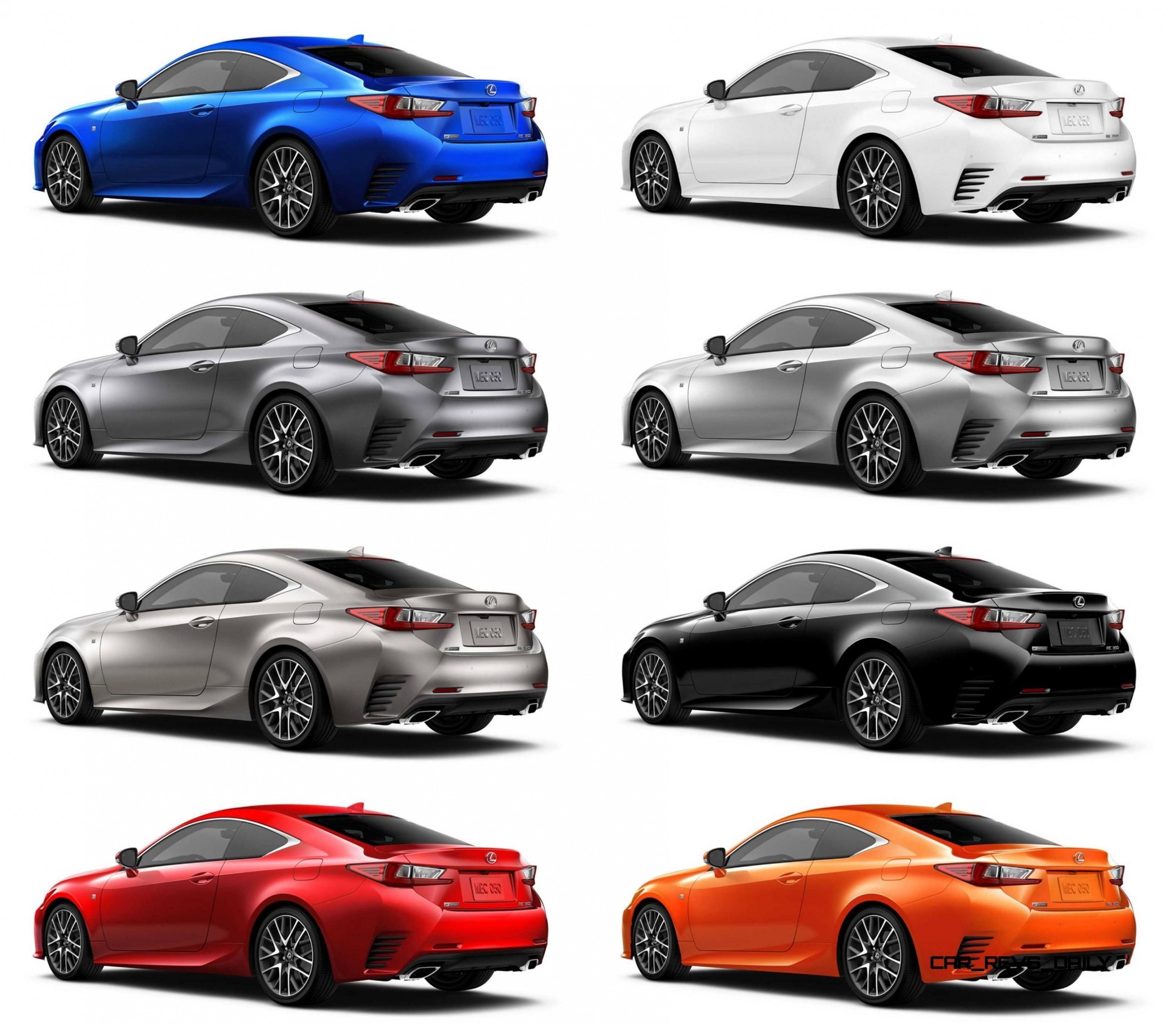 13 Amazing Best Sport Car 2019: 2015 Lexus RC350 Colors Visualizer + F Sport Vs Standard