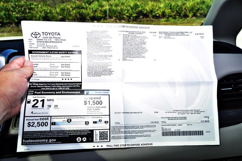 2015 Toyota Sienna XLE 70