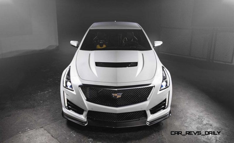2016 Cadillac CTS-V Crystal White Tricoat 10