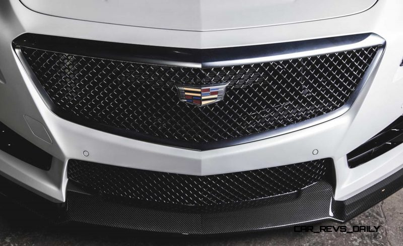 2016 Cadillac CTS-V Crystal White Tricoat 12