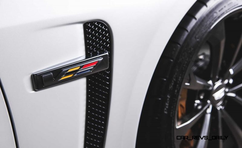 2016 Cadillac CTS-V Crystal White Tricoat 16