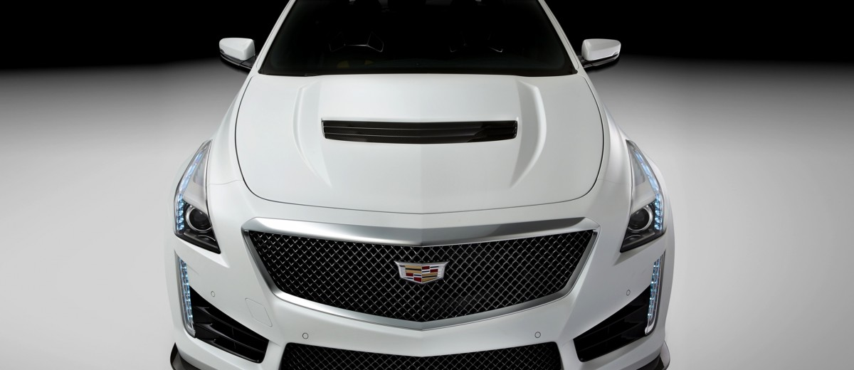 2016 Cadillac CTS-V Crystal White Tricoat 2