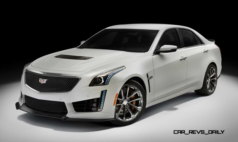 2016 Cadillac CTS-V Crystal White Tricoat 24