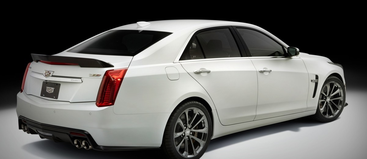 2016 Cadillac CTS-V Crystal White Tricoat 25