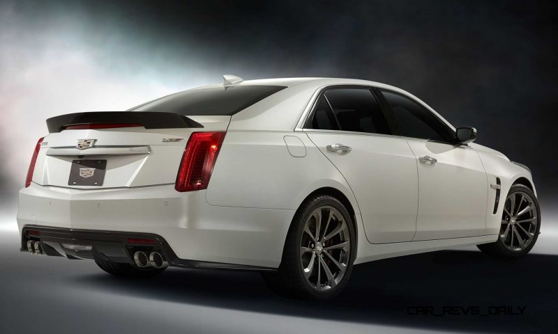 2016 Cadillac CTS-V Crystal White Tricoat 26