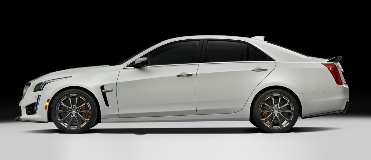 2016 Cadillac CTS-V Crystal White Tricoat 27