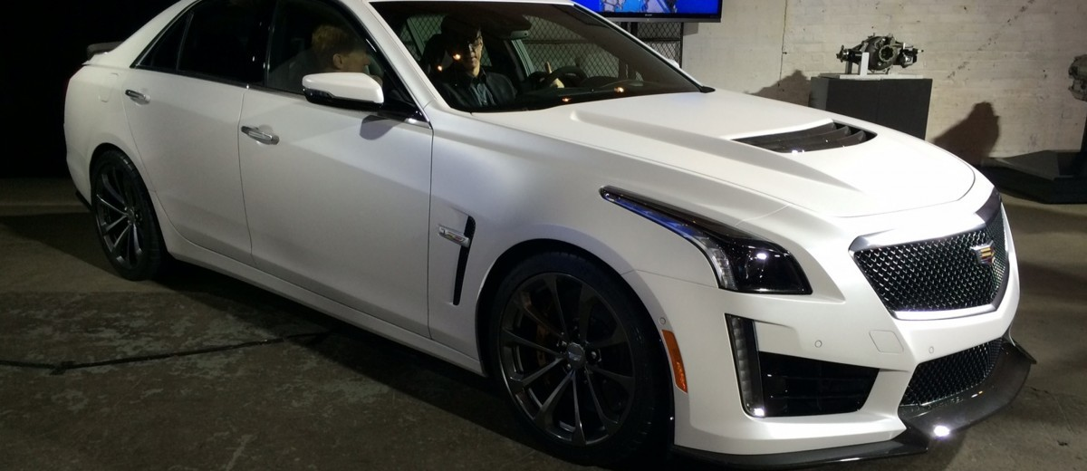 2016 Cadillac CTS-V Crystal White Tricoat 3