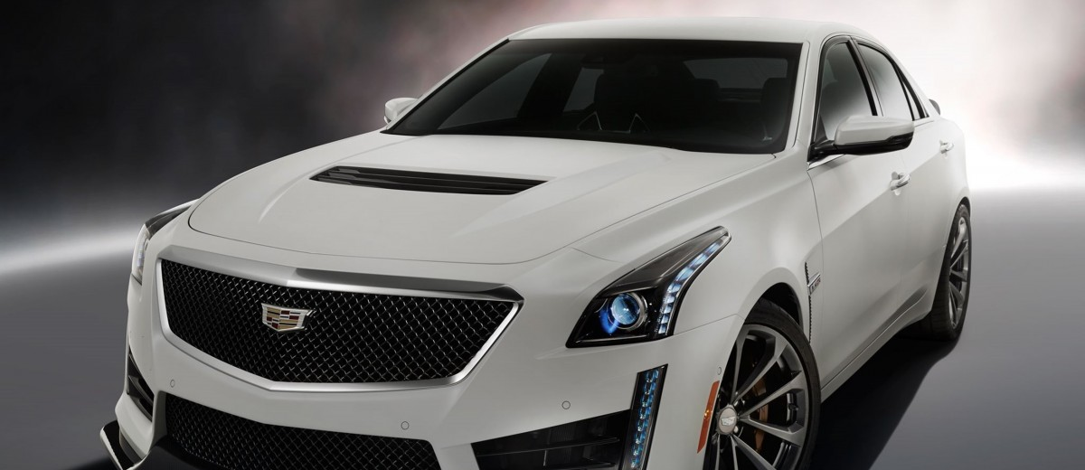 2016 Cadillac CTS-V Crystal White Tricoat 4