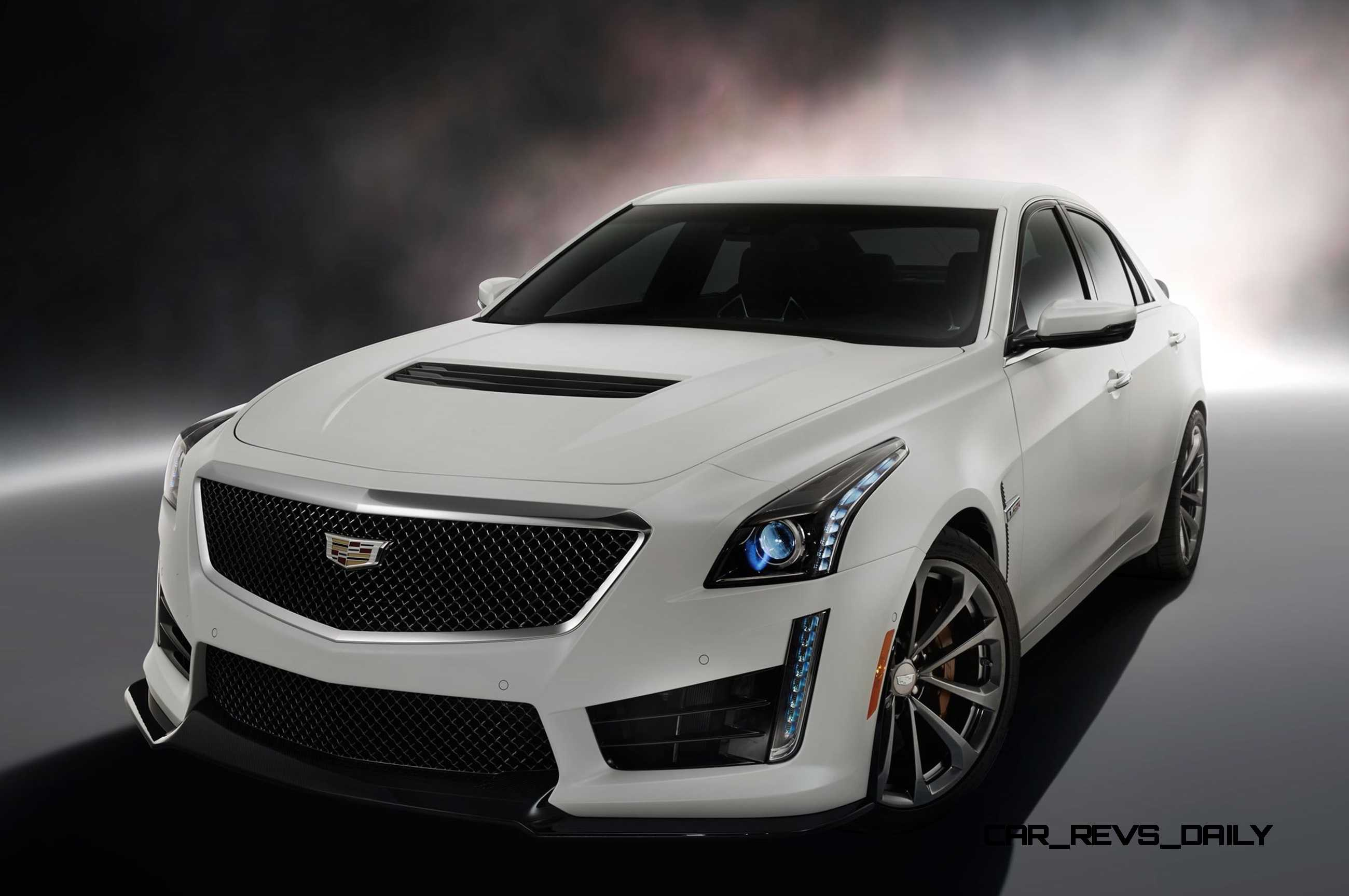 2016 cadillac cts v crystal white tricoat 4. Black Bedroom Furniture Sets. Home Design Ideas
