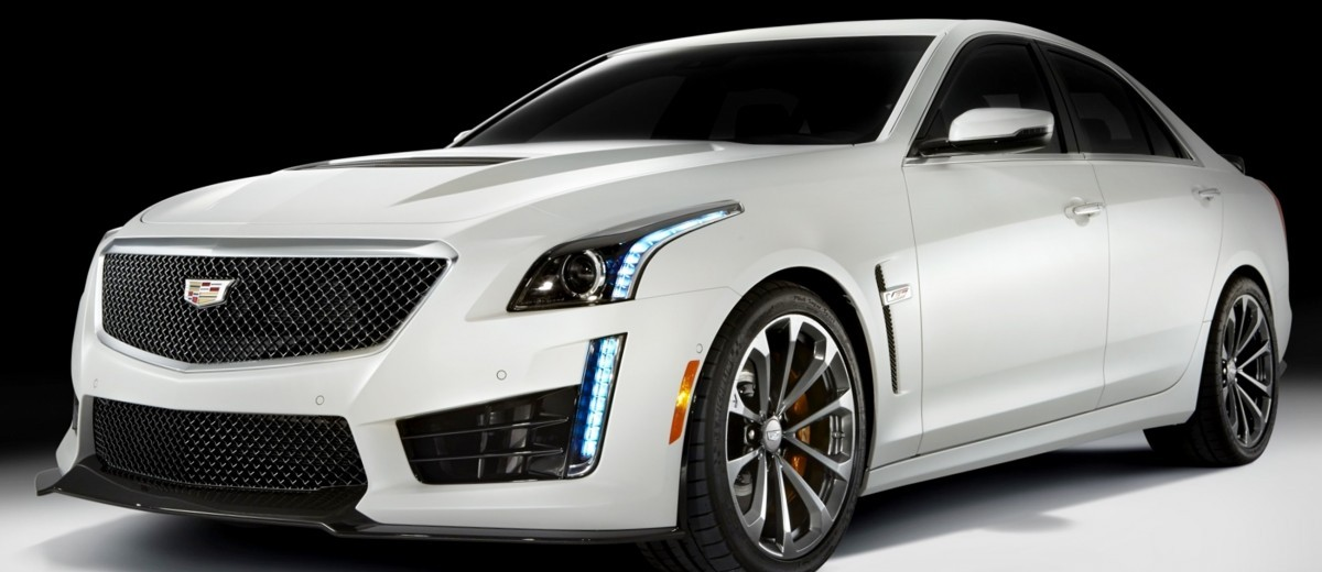 2016 Cadillac CTS-V Crystal White Tricoat 5