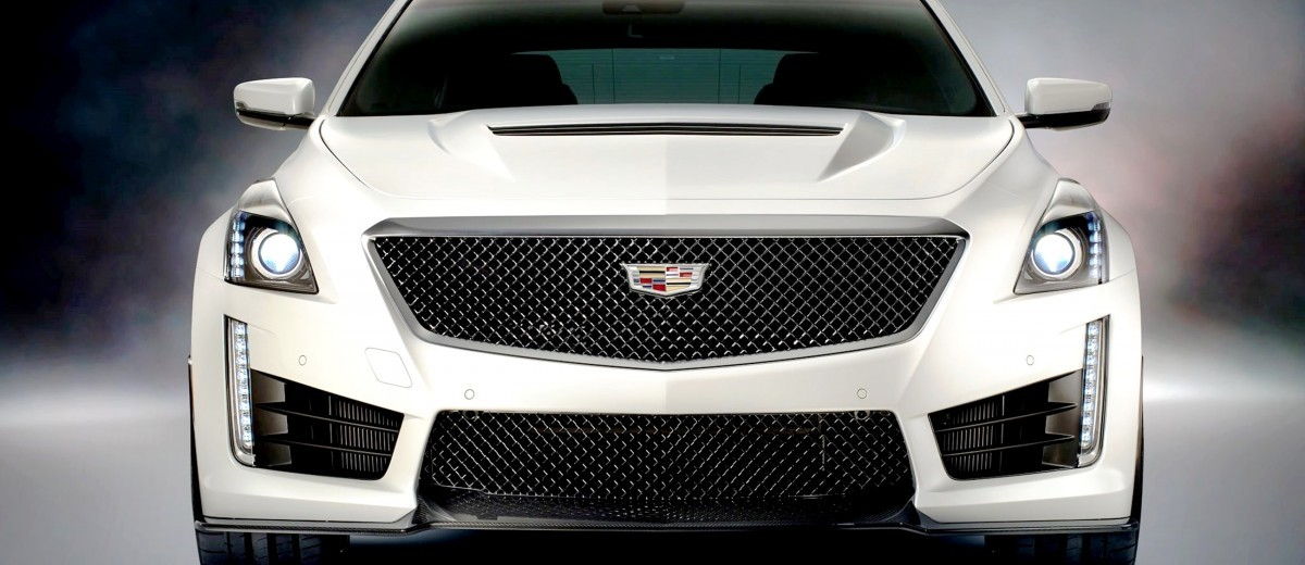 2016 Cadillac CTS-V Crystal White Tricoat 6