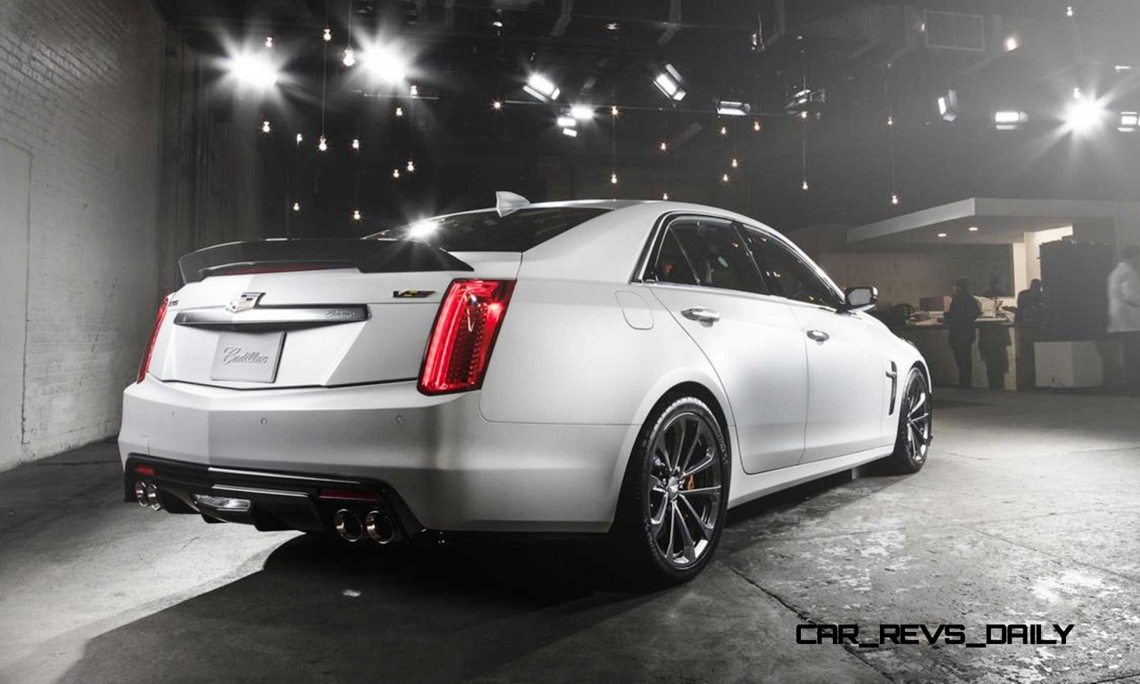 2016 cadillac cts v crystal white tricoat 11. Black Bedroom Furniture Sets. Home Design Ideas
