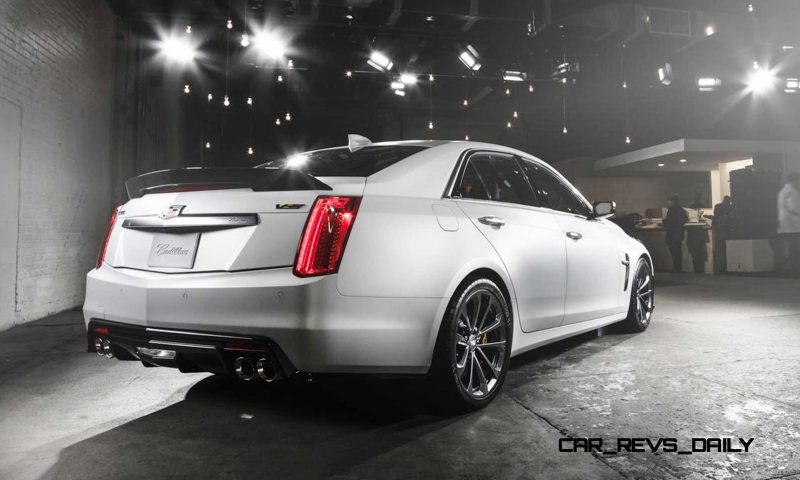 2016 Cadillac CTS-V Crystal White Tricoat 9