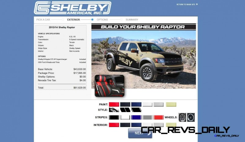 575HP SHELBY RAPTOR - Animated Colors and Options Guide 21