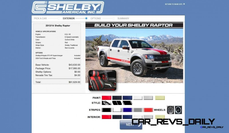 575HP SHELBY RAPTOR - Animated Colors and Options Guide 28