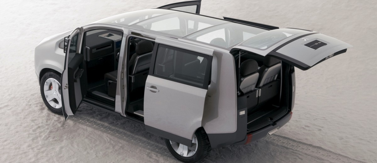 Concept Debrief - 2006 Mitsubishi D5 Was Future-Style Cool Van 10