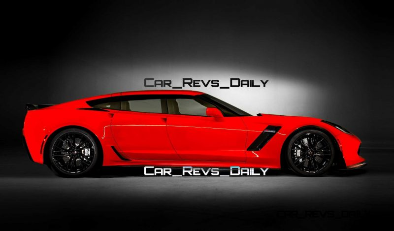 Future Supercar Renderings - 2017 Chevrolet Corvette Z06 Sedan 1