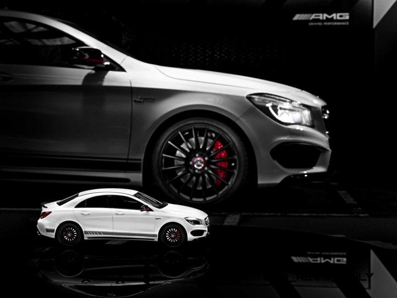 Mercedes-Benz CLA 45 AMG, 1:18, in designo diamantweiß bright,