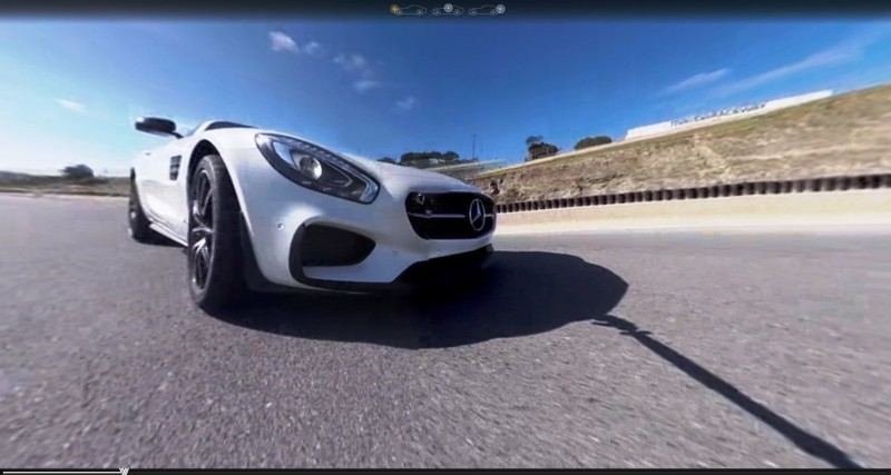 Mercedes-AMG GT Stars in Two Trippy Virtual-Reality Track Videos 12