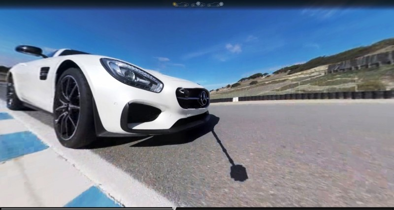 Mercedes-AMG GT Stars in Two Trippy Virtual-Reality Track Videos 16