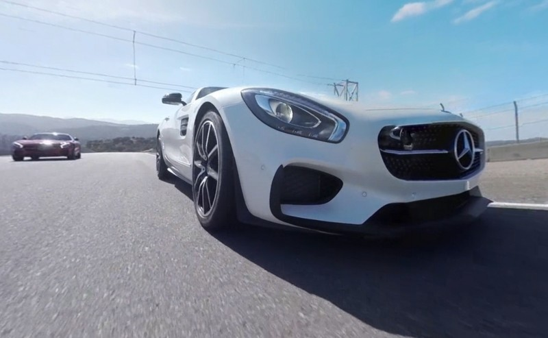 Mercedes-AMG GT Stars in Two Trippy Virtual-Reality Track Videos 3