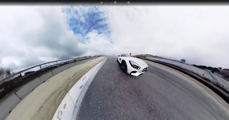 Mercedes-AMG GT Stars in Two Trippy Virtual-Reality Track Videos 4