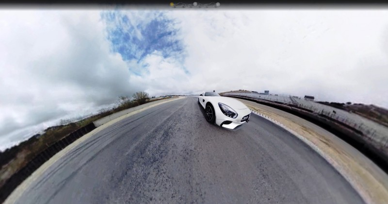 Mercedes-AMG GT Stars in Two Trippy Virtual-Reality Track Videos 5
