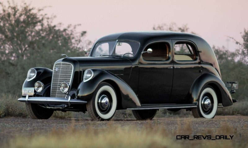 RM Arizona 2015 Preview - 1937 Lincoln Model K Two-Window V12 Sedan 1