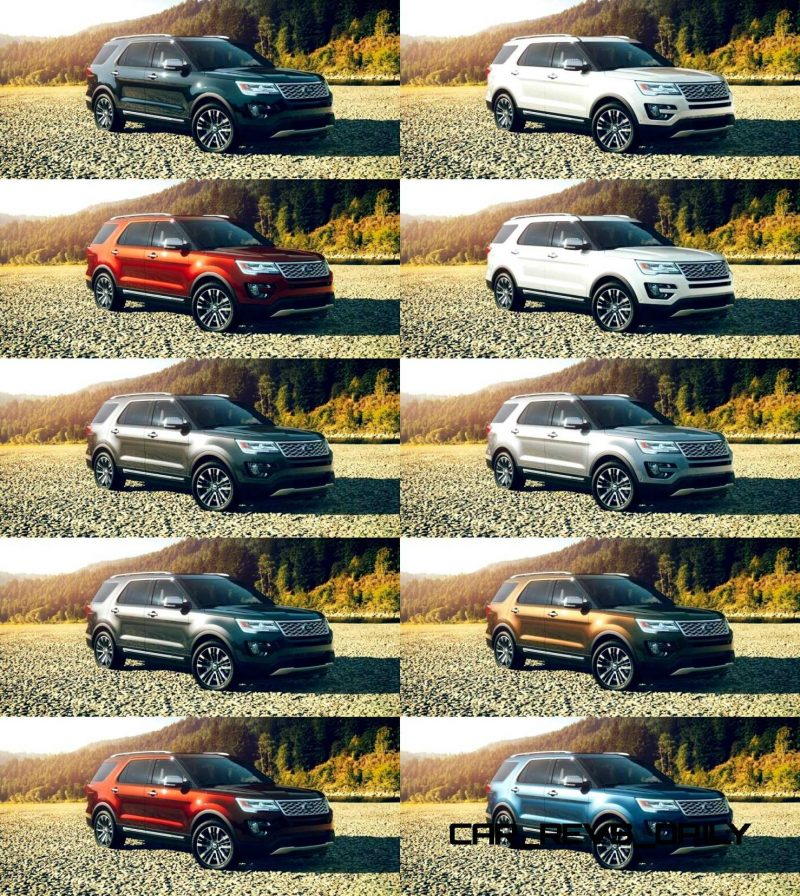 2015 Ford Explorer Color Chart >> 2016 Ford Explorer Colors