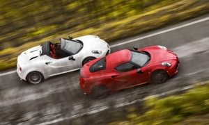 2015 Alfa Romeo 4C Spider (top) and Alfa Romeo 4C Coupe (bottom)