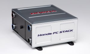 Honda FCV Concept Fuel Cell Stack Compared to