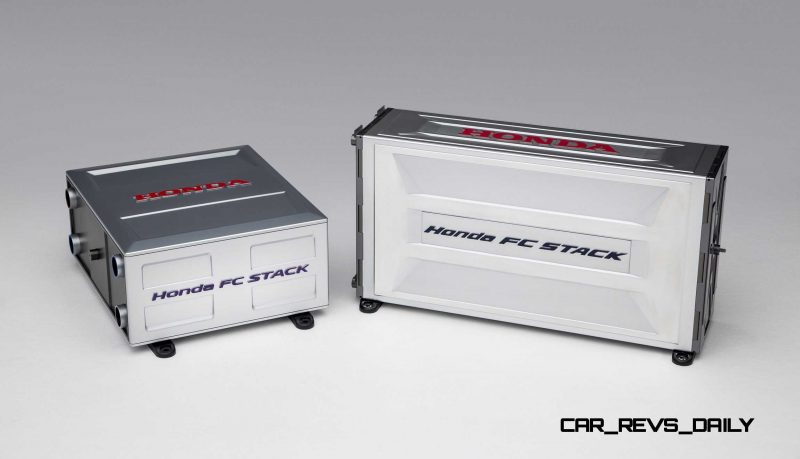 Honda FCV Concept Fuel Cell Stack Compared toFCX Clarity Versio