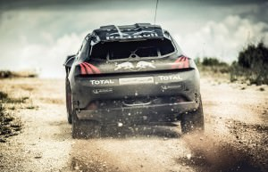 Carlos Sainz performs during the Peugeot 2008 DKR test in Chatea