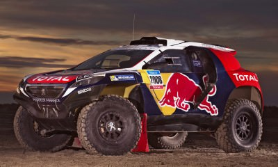 The Peugeot 2008 DKR in Camargue, France on November 13th, 2014