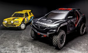 The 205 T16 and Peugeot 2008 DKR revealed in Nanterre, France on